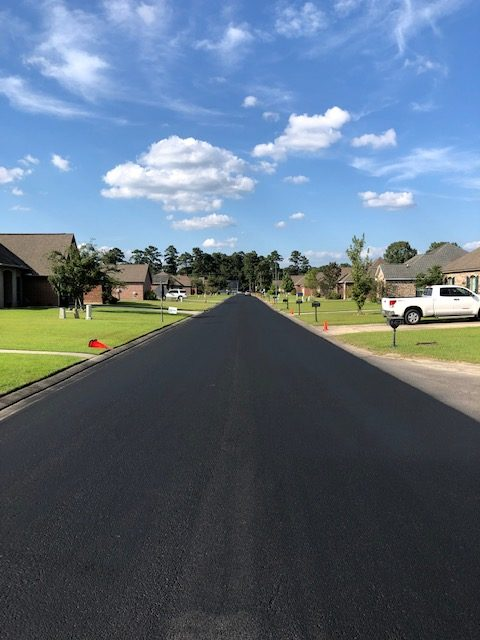 Road after sealcoat application